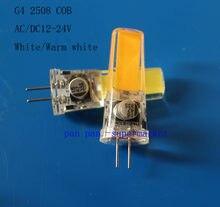 G4 5 w COB 2508 AC/DC 12-24 v Led Regulável bulb Branco/Warm Luz De Silicone lâmpada