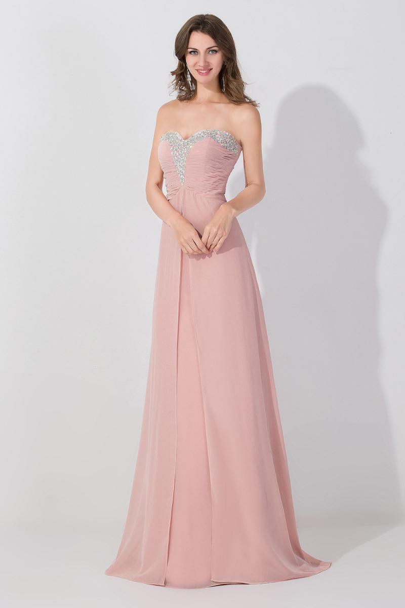 Dusty Pink Imperio Sweetheart Largo de Dama de Honor Embarazada ...