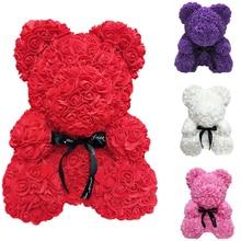 25 см большой красный Teddi медведь искусственная Роза цветочное свадебное украшение Рождественские подарки для женщин Валентина подарок 2019 дропшиппинг