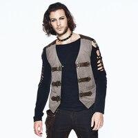 Steampunk Autumn Winter Gothic Fashion Striped Vests Autumn Winter Jackets Vest
