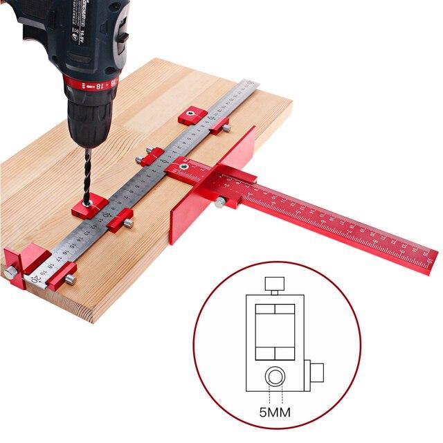 Woodworking Cabinet Handle Template Jig Tools Door Mounting Position