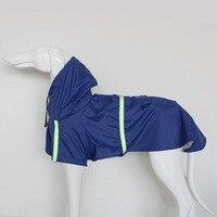 Собака плащ для отдыха Водонепроницаемый легкий собака дождь куртка Регулируемая Светоотражающие Pet Дождь пончо для маленький средний бол...
