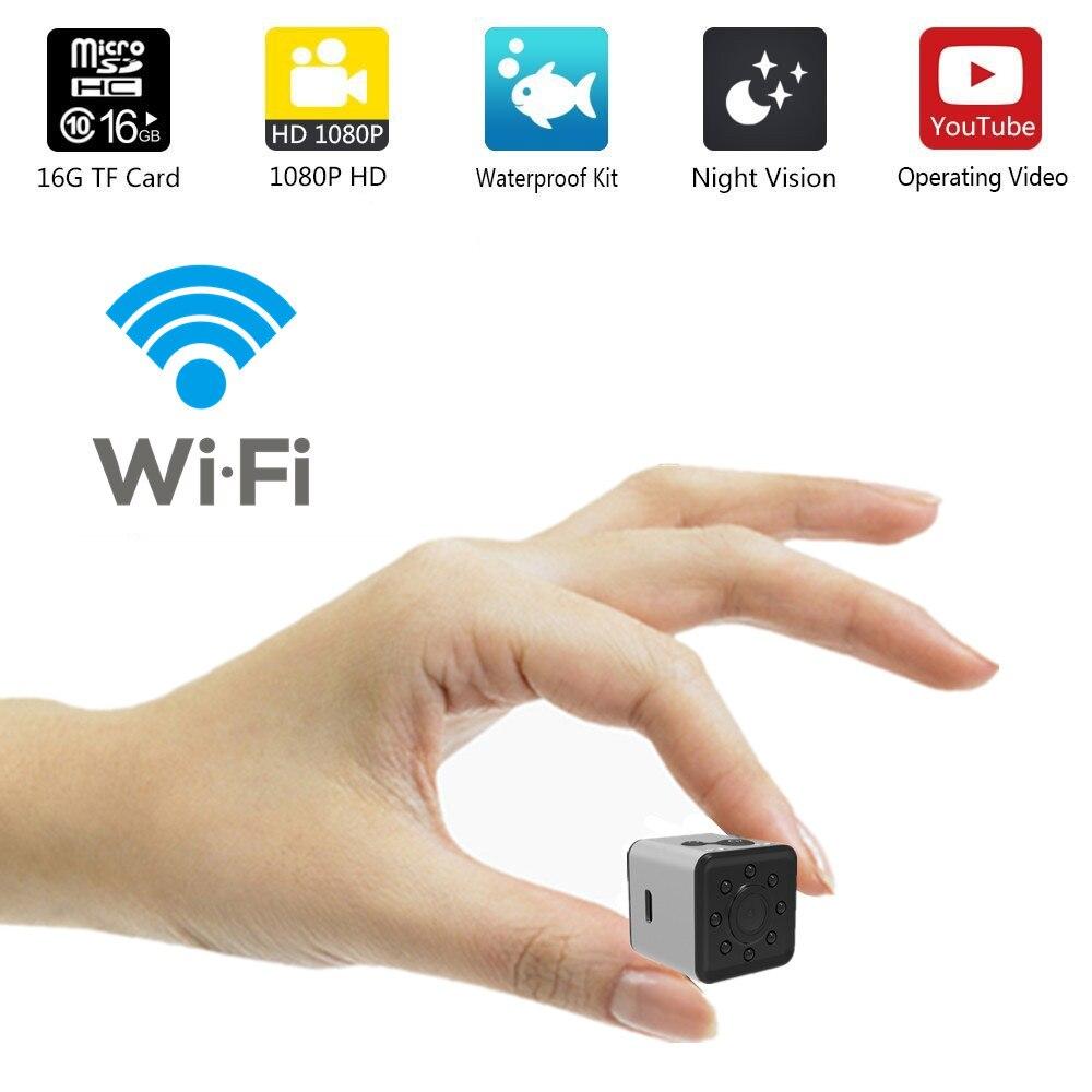 SQ13 HD WIFI mini cámara cam 1080 p video Sensor de visión nocturna Cámara Micro cámaras DVR Cámara videocámara grabadora de SQ 13