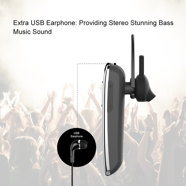 Headphones Earbud with Microphone Earphone CSR4.0 for Phone PC New Bee Original Hands-free Wireless Bluetooth Earphone Headset