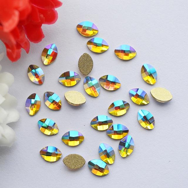 4 6mm Non Hotfix Strass Clear Crystal AB Rhinestones Horse eyes Flatback  Crystals DIY 3D 5e0f3681df8b