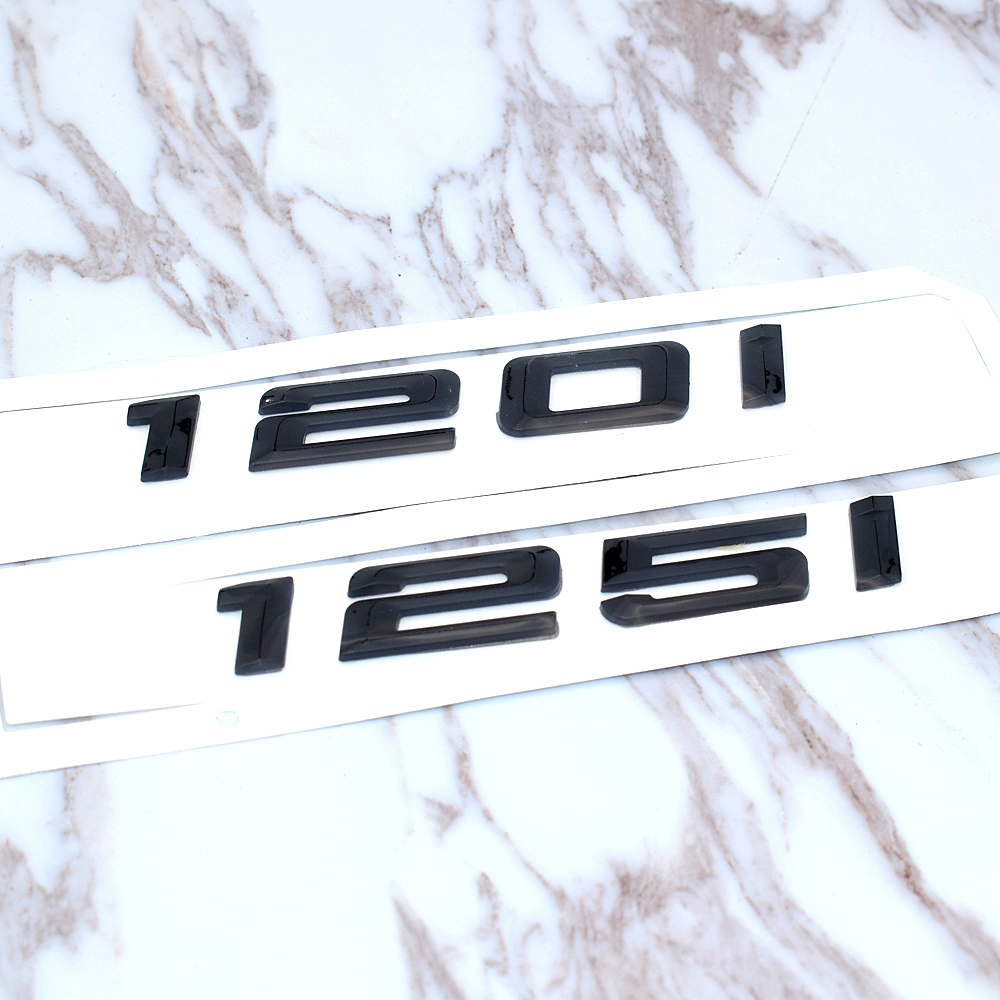 116i 118i 120i 125i 130i 135i car rear boot emblems number letter badge styling For BMW 1 Series E81 E82 E87 E88 F20 F21 emblem in Car Stickers from Automobiles Motorcycles