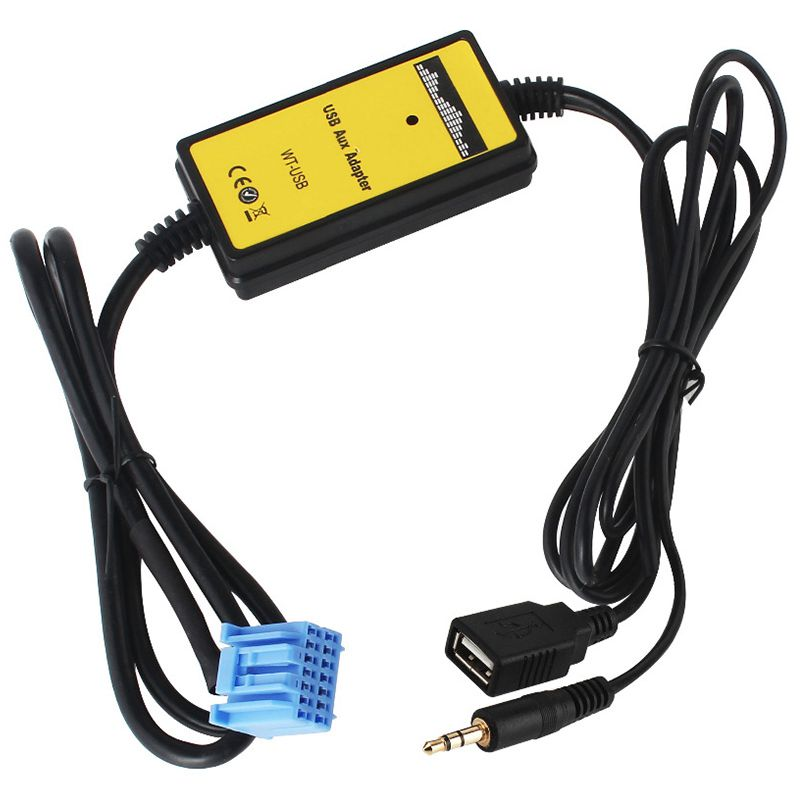 Car Mp3 Phone Aux USB <font><b>Adapter</b></font> 3.5mm <font><b>Cable</b></font> AUXiliary CD Auto Changer <font><b>Adapter</b></font> For <font><b>Honda</b></font> 2.3 for Civic/Accord/Odyssey/CRV QX006 image
