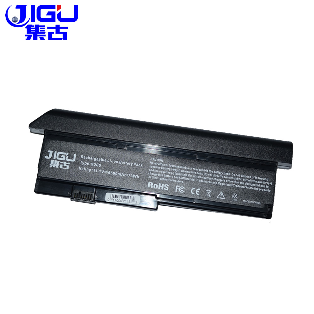 JIGU New Extended Battery 42T4534 42T4834 43R9255 42T4538 9Cell For IBM Lenovo ThinkPad X200 X200S X201 X201S X201i Series new led flex video cable for ibm lenovo x201 x201i series 44c9990 44c9991