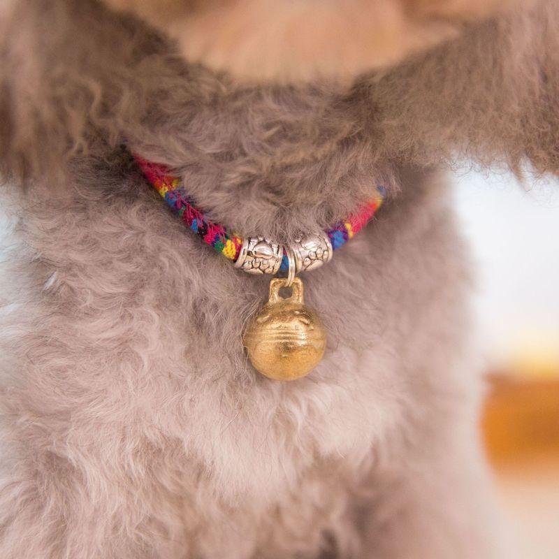 Pet brass bell anti lost cat necklace jewelry dog and cat accessories pop pet dog cat collar headband pendant