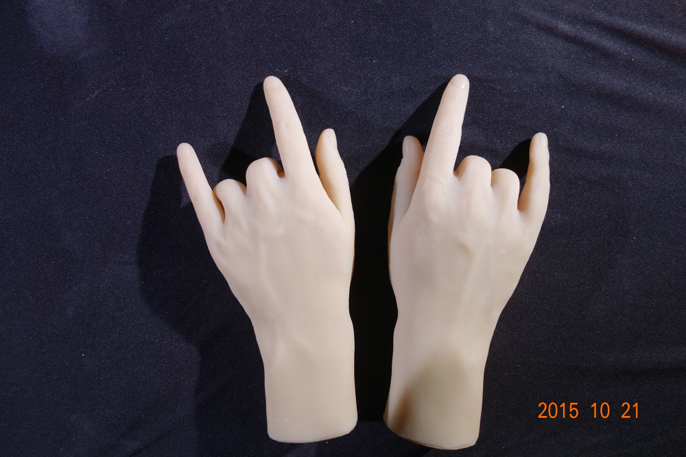 3D real doll solid silicone Pussy hand fake hand sex women hand model show n boys hand in 1 pair hand in hand