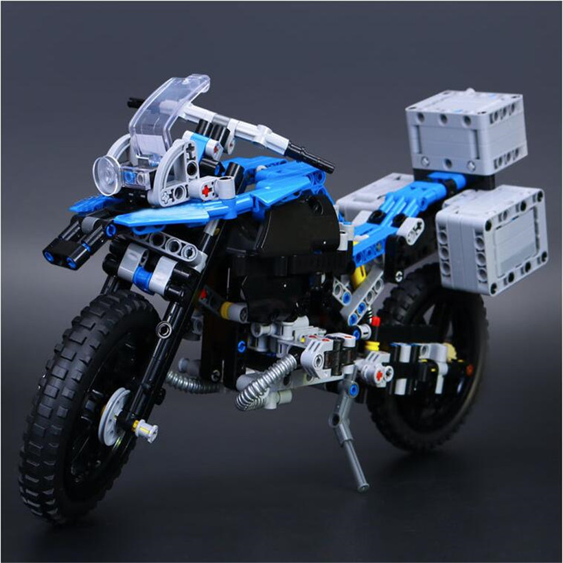 603 Pcs Small Particle Assembled Lepin ABS Building Blocks Juguetes Creative Motorcycle Compatible Brick Toys For Children Gifts hm136 57pcs large particle building