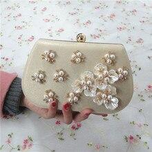 Frauen Strass Perlen Perle HandBga mit Ketten Gold Abend-handtasche Mini Hochzeit Prom Hardware Handtasche Tag Kupplungen