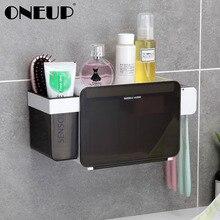 ONEUP многофункциональный набор для ванной 4 шт. набор аксессуаров коробка держатель для зубной пасты и Щетки Набор для хранения ванной стойки коробка для зубных щеток