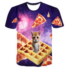 SOSHIRL Muffin Cats 3D Print T Shirts Women/Men's Top Galaxy Space Pizza animal/Laser Cat Funny T Shirt Custom Tops Hipster Tees(China)