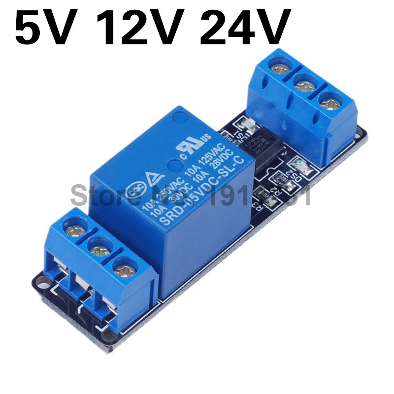 5V 12V 24 1 Channel Relay Module Optocoupler Isolation Relay Module