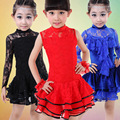Fringe Lace Girls Latin Dance Dress for Girls Skirt Sleeveless Latin salsa Ballroom Samba Dancing Dresses Kids Mini Skirt L163