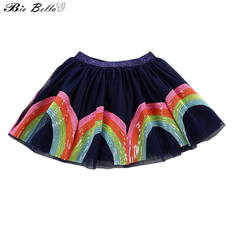 Princesa Bonito Verão Saia de Moda de Nova Encantador Doce Crianças Vestidos Infantis Meninas Saias Traje Bordado de Lantejoulas Tutu Saias