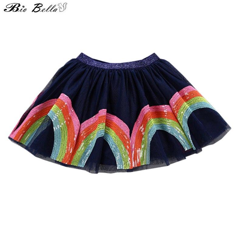 Princesa Linda falda de la manera del verano nuevo dulce encantador niños Vestidos niños niñas traje faldas lentejuelas tutú bordado