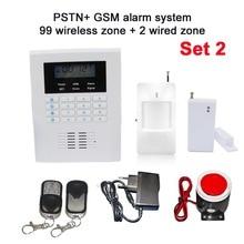 Бесплатная доставка ЖК 101 зона дуэль-сеть телефонной линии и GSM home security охранной сигнализации