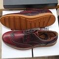 НАМ 10 ЕВРО 44 Мужчин Из Натуральной Кожи Круглый Носок Крыла Узелок Brogue Резные Обувь Бизнес Свадебное Платье Обувь Повседневная Оксфорд