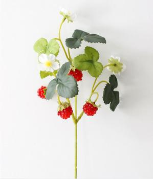 The artificial flower strawberry mulberry with fout small fruits decoration was used to simulate fruit  DIY materials BP056