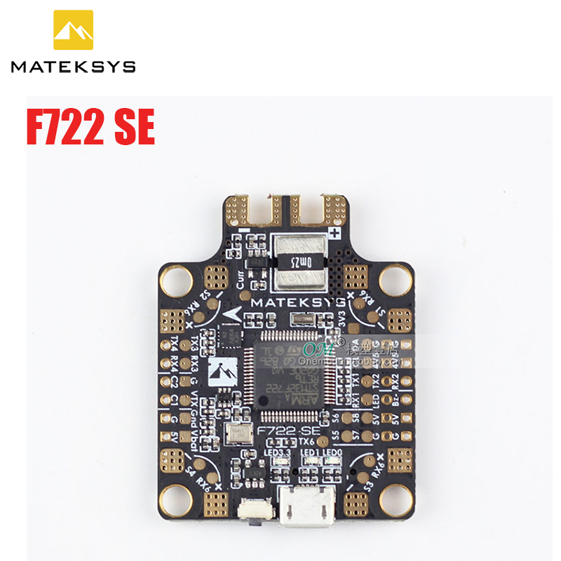 New Matek System F722 SE F7 Dual Gryo Flight Controller Built in PDB OSD 5V 2A