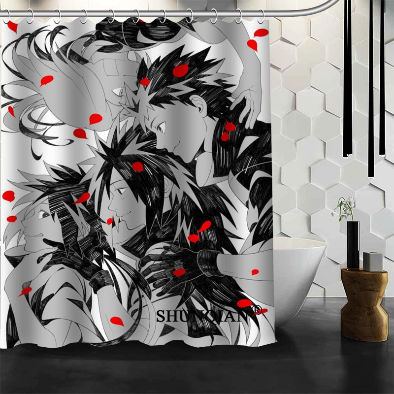 Naruto Shower Curtain High Quality Bath screens Modern Polyester Fabric Customized bath curtain