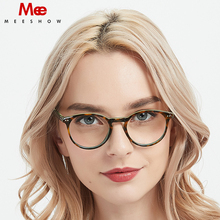 Acetate eyeglasses women men acetate glasses frame Vintage Round Optical Glasses Myopia Prescription spectacle