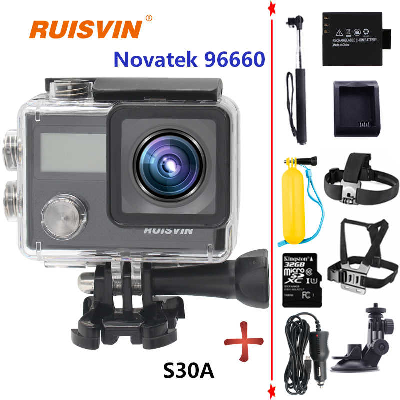 S30A WiFi Action Camera Novatek 96660 SJ SJ5000X Style 4K CAM HD 1080P 20MP  Sports DV Cam Diving Go Waterproof Pro Sport Camera