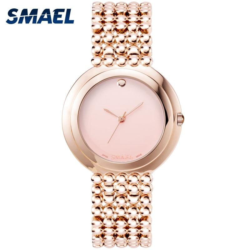 Women Watches Elegant SMAEL New Stainless Watch Quartz Wristwatches Girls relogio feminino 1885M Waterproof Sports Watch Ladies