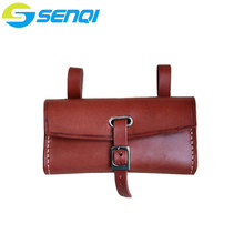 Pure Handmade Bicycle Bags Genuine Leather Bike Bag Faux Leather Cycling Bicycle Saddle Tail Rear Bags