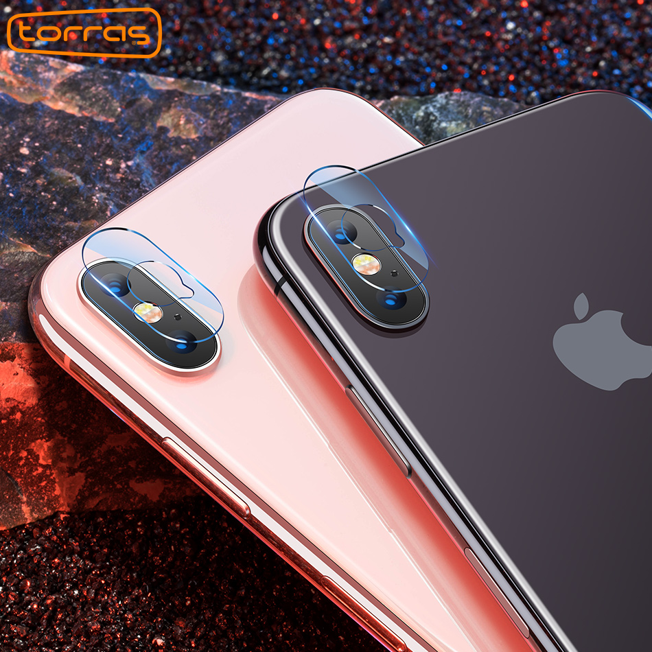 Torras 2pcs for iPhone X Camera Lens Back Screen Protector Tempered Glass For iPhone X 10 Protective Glass Camera Len Film