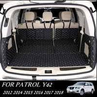 Car Rear Trunk Mats for Nissan Patrol Y62 2012 2018 Waterproof Boot Carpets Cargo Mat for Patrol Y62 7Seats
