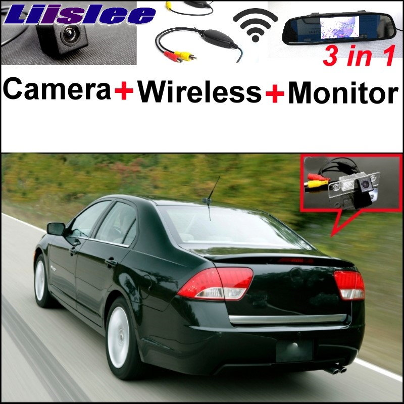 Liislee Wireless Receiver + Mirror Monitor EASY Backup Parking System For Mercury Milan / Sable 3 in1 Special Rear View Camera