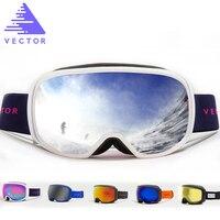 VECTOR Brand Anti Fog Ski Goggles UV400 Snowboard Goggles Men Women Spherical Big Mask Snowboarding Glasses