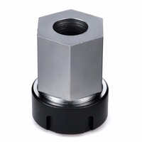 1pc Hard Steel ER32 Collet Block Hex Spring Chuck Collet Holder Silver Black For Lathe Engraving