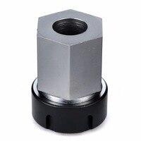 1pc Hard Steel ER32 Collet Block Hex Spring Chuck Collet Holder Silver Black For Lathe Engraving