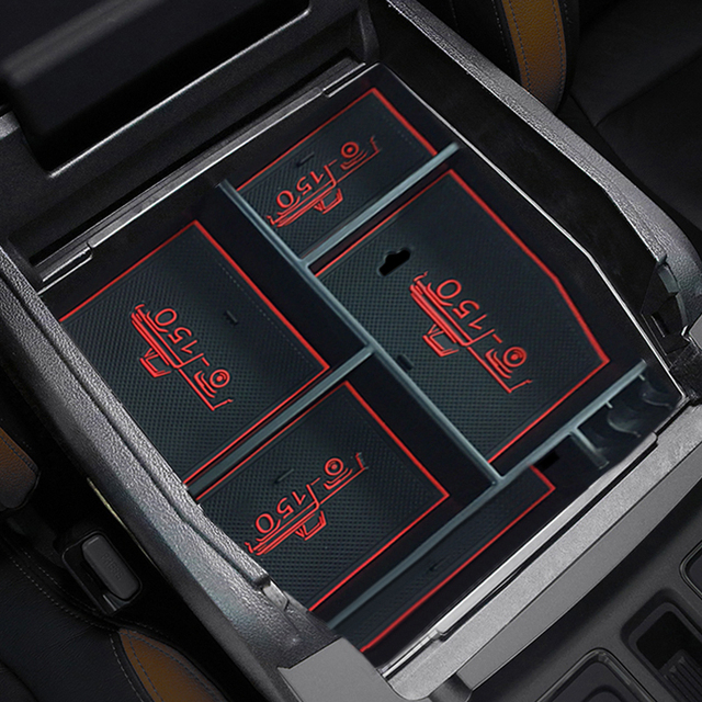 Black Accessories Car Styling Interior Car Armrest Storage Box Glove