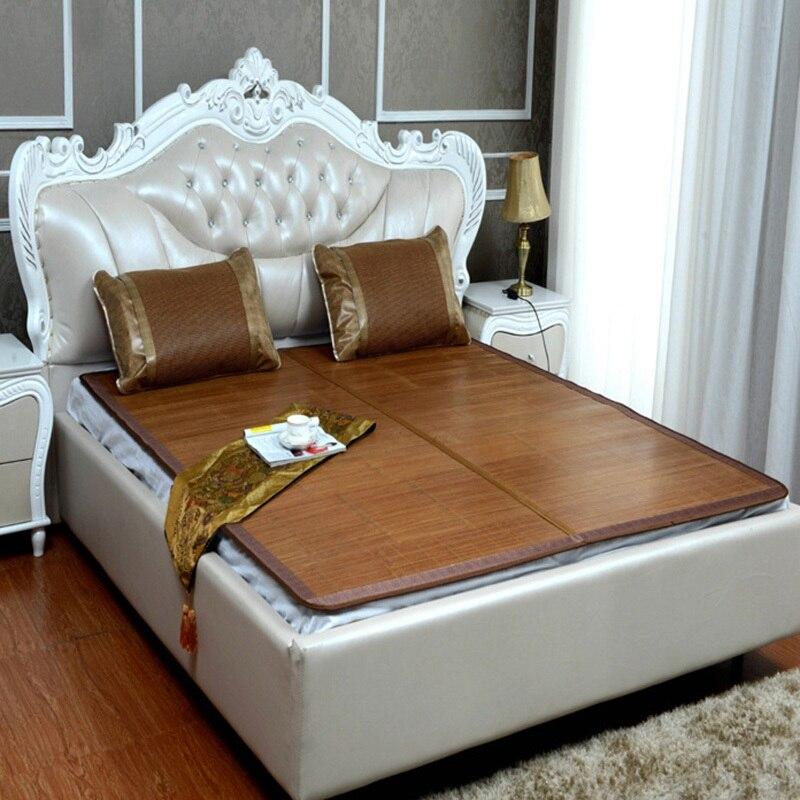 Hot 1piece Bamboo Sleeping Mat Summer Bed Mattress Cover Cooling Sleep Bedding