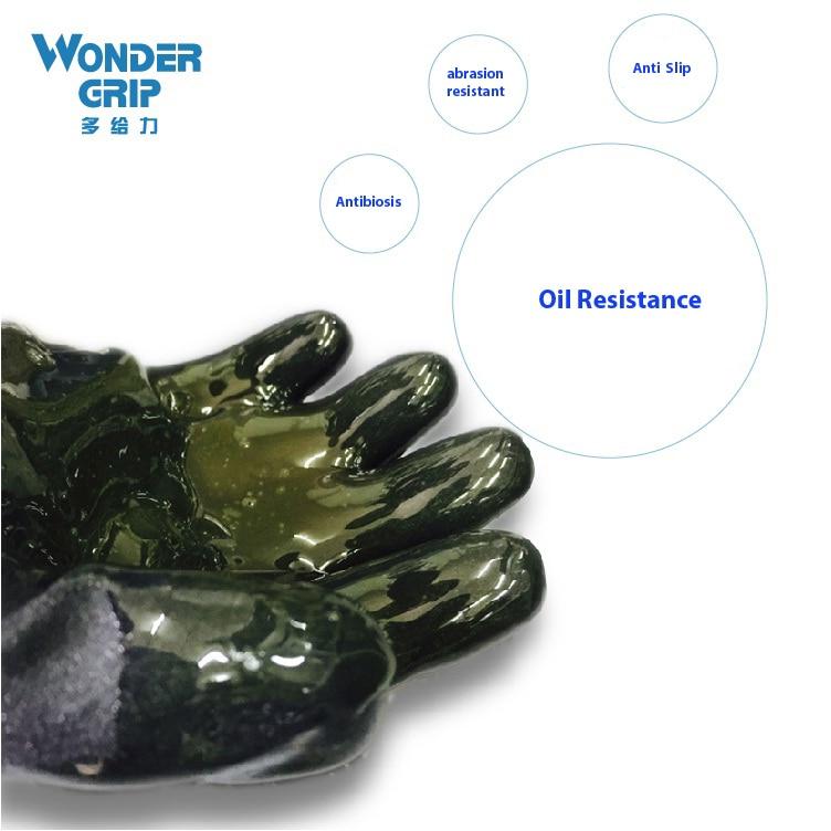 Luva de jardinagem Luva de óleo e gás Borracha nitrílica Luva - Segurança e proteção - Foto 3