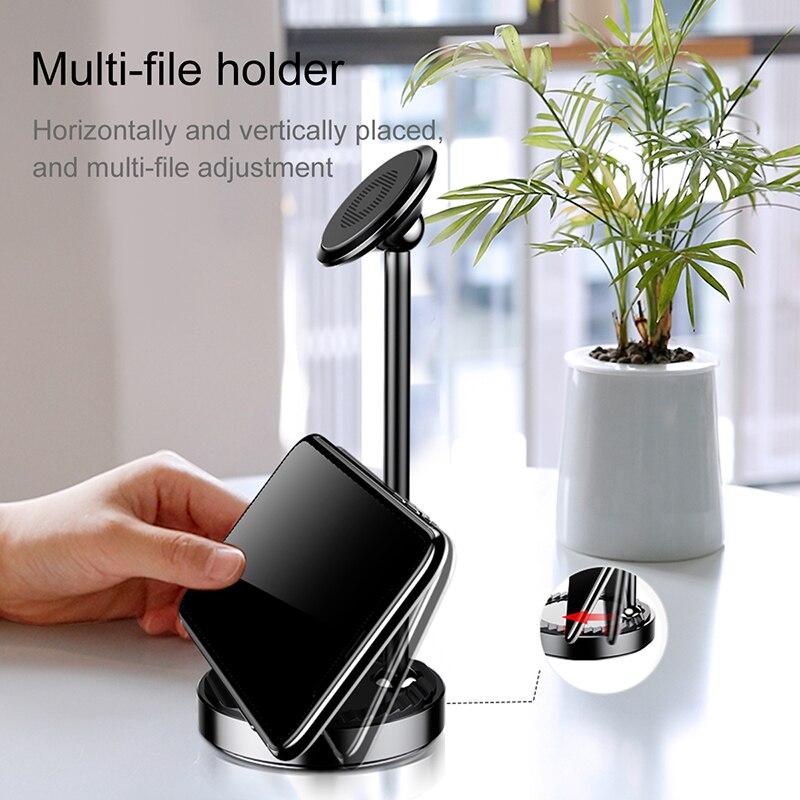 Image 3 - Baseus 卓上ホルダーは iphone サムスン xiaomi マグネット電話ホルダー 360 度机磁気サポートタブレットデスクトップホルダーholder standstand fordesktop holder -