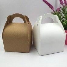 30 unids/lote caja marrón Natural y blanca, caja de embalaje de papel Kraft, caja de jabón