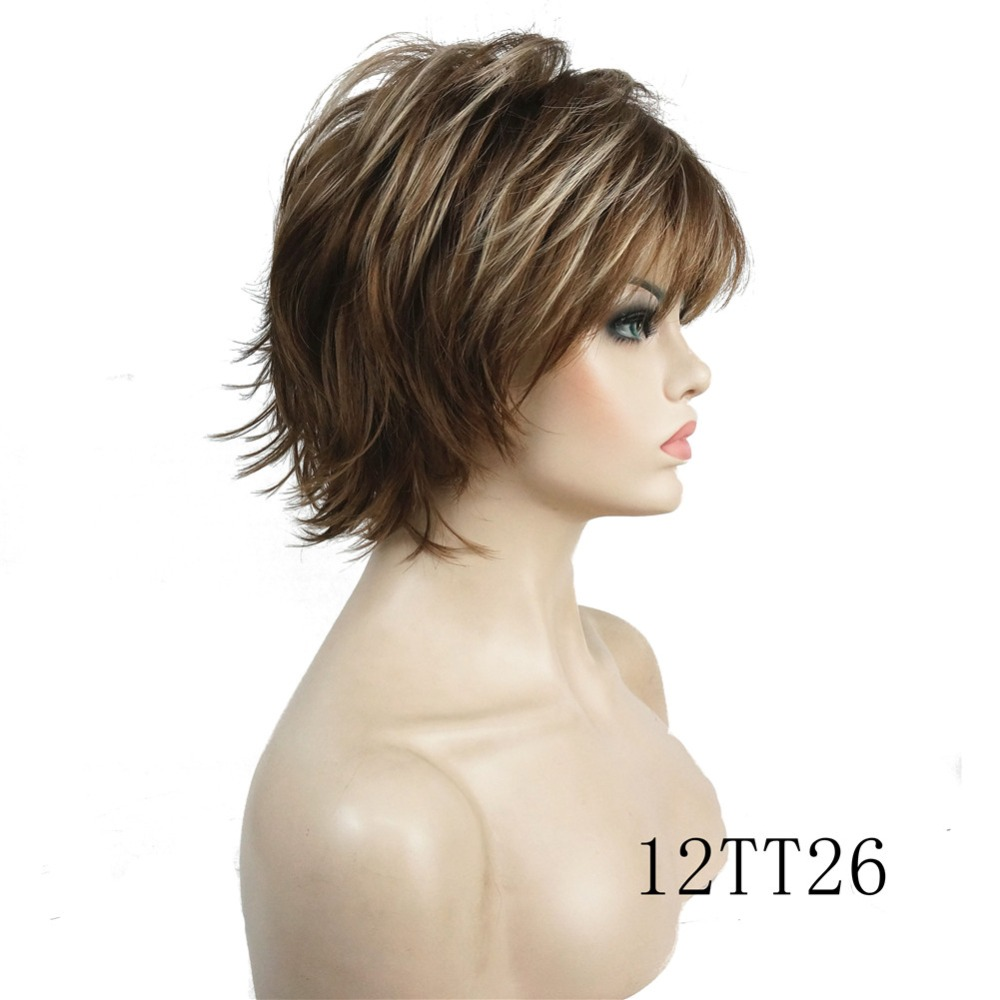 Fluffy Short Straight Synthetic Wigs