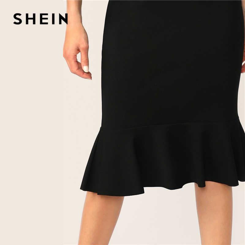 SHEIN, элегантные вечерние платья на одно плечо, летнее облегающее платье миди, женское летнее платье без рукавов, 2019