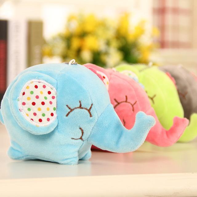 Kawaii Bright Plush Elephant Toy