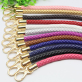 DIY 52cm Short 1.2cm Replacement Straps Colorful PU Leather Purse Handles for Bags Handbag Accessories Belt with Gold Clasps