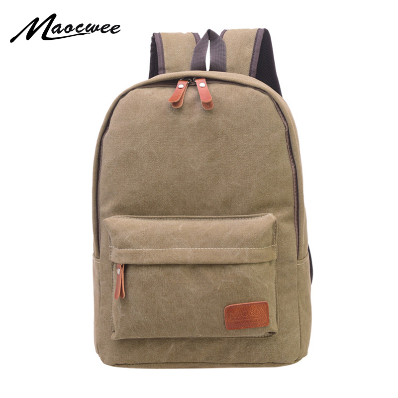 Man Canvas Backpack Women Preppy Style School Lady Student Unisex School Laptop Bag Female mochila bolsas For Teenage Girl
