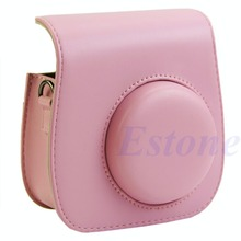Leather Camera Shoulder Strap Bag Protect Case Pouch For Fujifilm Instax Mini 8 Small Compact Camera Backpack