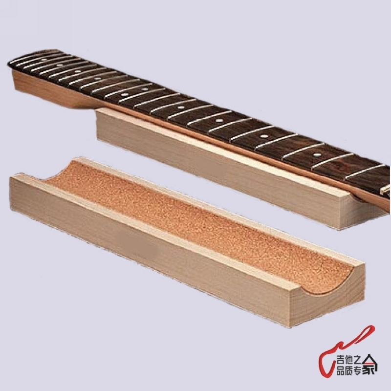 1 Piece GuitarFamily Guitar Bass Neck Rest Caul Neck Rest Long Neck Support Guitar Fretwork Cork Lined