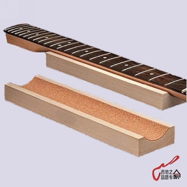 1 unidades pieza guitarra familiar bajo cuello resto Caul cuello resto cuello largo soporte guitarra Fretwork corcho forrado